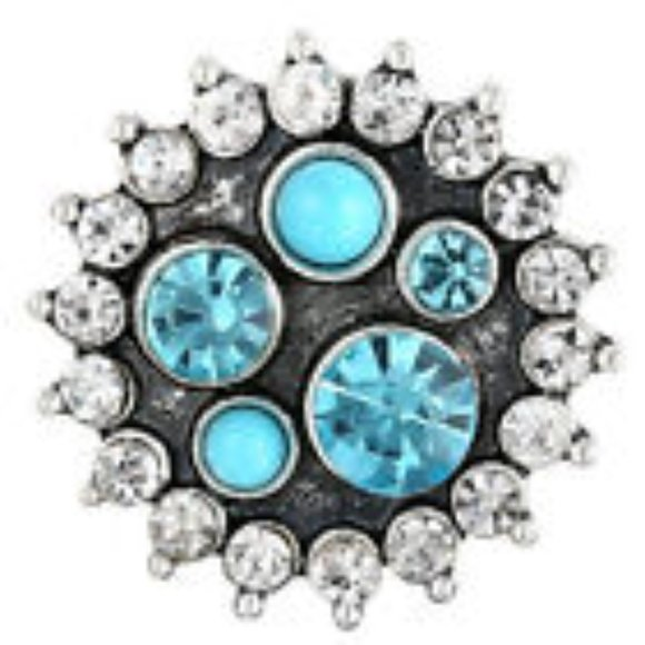 Jewelry - 18MM Rhinestone Snap Button Charm